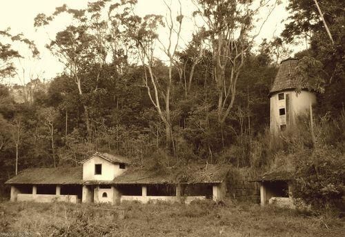 Foto antiga da mesma Fazenda no Vale do Cuiabá