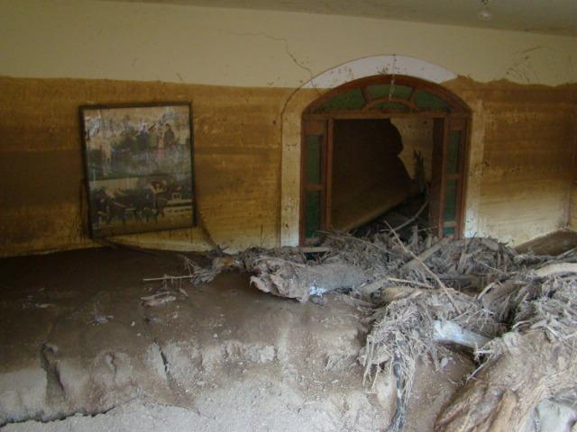 Este quarto foi invadido pela lama e galhos às 2hs da madrugada.